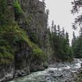 Granite Falls is on the South Fork of the Stillaguamish River.- Granite Falls Fish Ladder