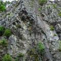The enormous cliff that looms above Granite Falls.- Granite Falls Fish Ladder