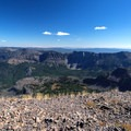 Summit views, looking east toward Strawberry Lake.- Strawberry Mountain via Strawberry Lake