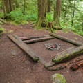 A camping area that is early on the Boulder River Trail.- Boulder River Trail