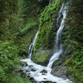 Feature Show Falls is the first falls you'll encounter on the hike.- Boulder River Trail