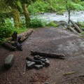 The flats at the end of the trail are a great overnight option.- Boulder River Trail