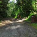 The road into Esswine Group Campground.- Esswine Group Campground