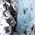 The ice park offers some challenging routes for experienced climbers.- Ouray Ice Park