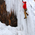 The Ouray Ice Park offers a variety of grades and styles, all available for safe top roping.- Ouray Ice Park