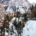 The Ouray Ice Park can get crowded on weekends, but there are plenty of routes to choose from.- Ouray Ice Park
