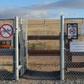 Signage at the entrance to the trail warns against leaving valuables in your car..- San Pablo Bay Trail