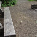 Designated sites have picnic tables and fire pits.- Boardman Creek Group Campground