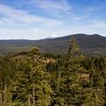 Mount McLoughlin from the bluff.- Hobart's Bluff