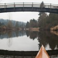 The river passes under numerous bridges and overpasses.- Sammamish River Kayak/Canoe