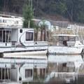 Boats line the banks of the Sammamish River.- Sammamish River Kayak/Canoe