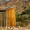 There are traditional outhouses on both parts of the site.- Castle Dome Mines Museum and Ghost Town