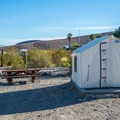 Tent cabins at Panamint Springs.- Panamint Springs Campground