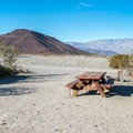 Spacious campsites.- Panamint Springs Campground