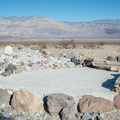 A small stage at the group site.- Panamint Springs Campground