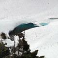 Alpine lake outlet below Anderson Glacier.- Anderson Glacier via Enchanted Valley