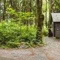 Vault toilet facilities at Hemple Creek Day Use Area.- Hemple Creek Day Use Area