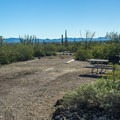 Try to get a site on the perimeter of the campground like this tent site with great views.- Twin Peaks Campground