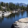 Nearby Doris Lake in the Ansel Adams Wilderness.- Mono Hot Springs Campground