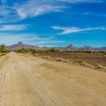 The road into the mines area is maintained gravel for the last 10 miles.- Castle Dome Mines Museum and Ghost Town