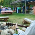 Folk entertainment at the Sun Mountain Lodge's Cowboy Dinner.- Sun Mountain Lodge
