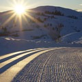 Sun Mountain Lodge's groomed winter trails.- Sun Mountain Lodge