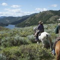 Horseback riding above Patterson Lake.- Patterson Lake Cabins