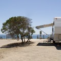 Typical campsite.- San Elijo State Beach Campground