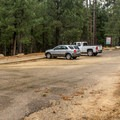 The parking area is large and right off of the main road.- Sunset Trail