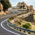 Hoodoos dot the landscape.- Mount Lemmon Scenic Byway