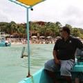 Leaving West Bay via water taxi.- West Bay, Roatan