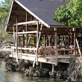 A waterfront restaurant at Half Moon Bay.- Half Moon Bay, Roatan
