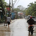 West End on a rainy day.- West End, Roatan