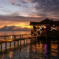Viewing the sunset from the West End.- West End, Roatan