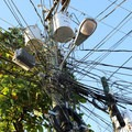Resourceful wiring in West End.- West End, Roatan