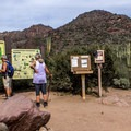 There is often a ranger at the trailhead to give advice. A permit is not required for a day hike.- Peralta Canyon Trail
