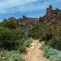 The trail starts out rising gradually and climbs the entire route.- Peralta Canyon Trail