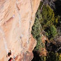 The Trinity Cracks, excellent 5.10 splitters at the Overlook.- The Overlook