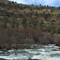 Deschutes River just downstream of Wychus Creek junction.- Scout Camp Trail