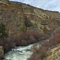 Looking north along the Deschutes River toward Carcass Canyon.- Scout Camp Trail