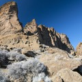 Fort Rock's tuff eastern wall.- Fort Rock State Natural Area