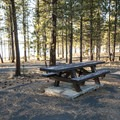 ADA-accessible campsite at East Bay Campground.- Thompson Reservoir, East Bay Campground