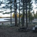 Shoreline campsite at Thompson Reservoir Campground.- Thompson Reservoir Campground