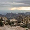 Get back to Windy Point early to stake out a place to watch the sunset.- Mount Lemmon Scenic Byway