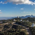 The mountain houses the world's largest collection of professional optical telescopes in the world.- Kitt Peak National Observatory