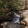 A small tributary crossing.- Catawba Falls