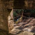 Looking through the ruins.- Catawba Falls