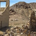 The Cook Bank building is one of the most picturesque in the town.- Rhyolite Ghost Town