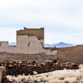 Another view of the Cook Bank.- Rhyolite Ghost Town