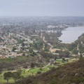 View of Lake Murray behind San Carlos Golf Course.- Cowles Mountain, Golfcrest Drive Trailhead